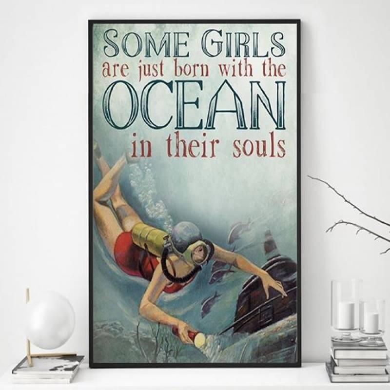 Scuba Soul - Unframed Vertical Poster