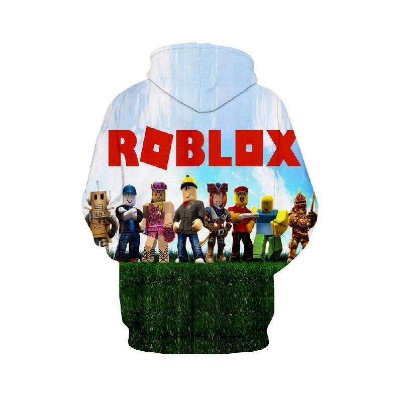 2019 Kids Roblox 3D Hoodie Fever Series Pullover Sweatshirt Daylight