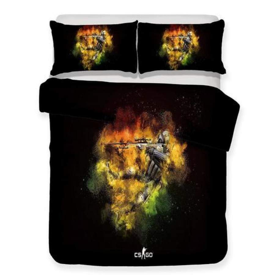 2018 New Design Print Bedding CS Go Game Theme Bedding Sets Comforter Boho Bedspreads