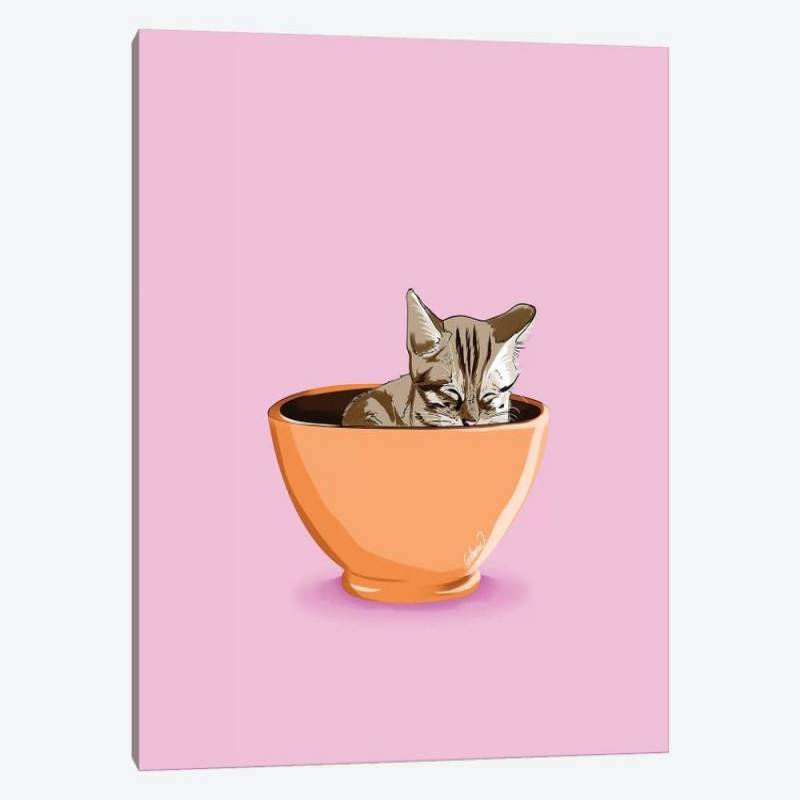 Cat Coffee Mug - Canvas Print