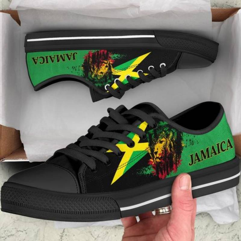Jamaica lion low top shoes -BBS