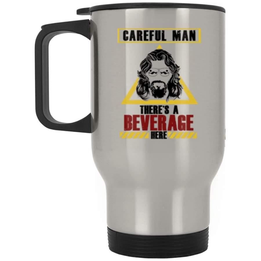 Beverage Here 2 Steel Travel Mug (2-sided)