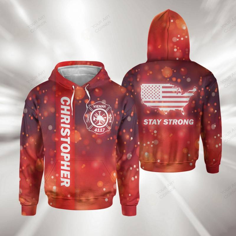 Personalized Firefighter Hoodie #1