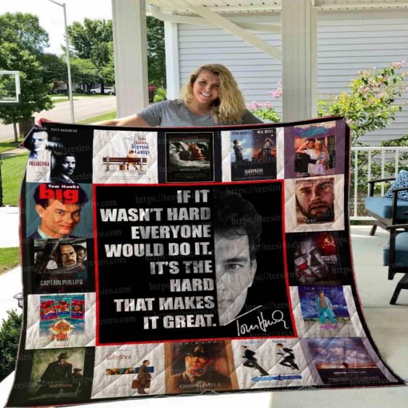 Tom Hanks Poster Film Quilt Blanket 01