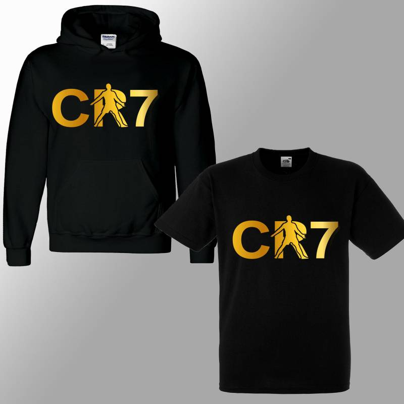 New Ronaldo CR7 Inspired Soccer Hoodie/ T Shirt Juve Jumper footy Merch Jumper Christiano Celebration Ronaldo Tee Boys Girls Gift 3-13yrs