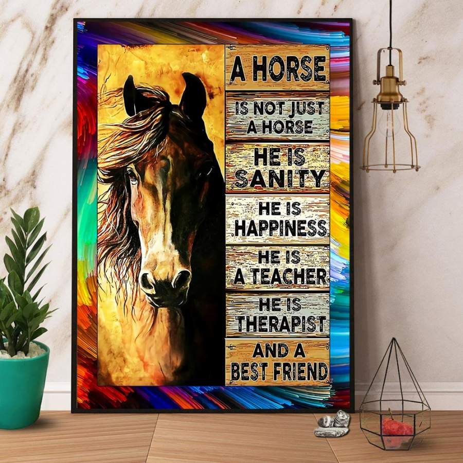 A horse is not just a horse best friend paper poster no frame/ wrapped canvas wall decor full size