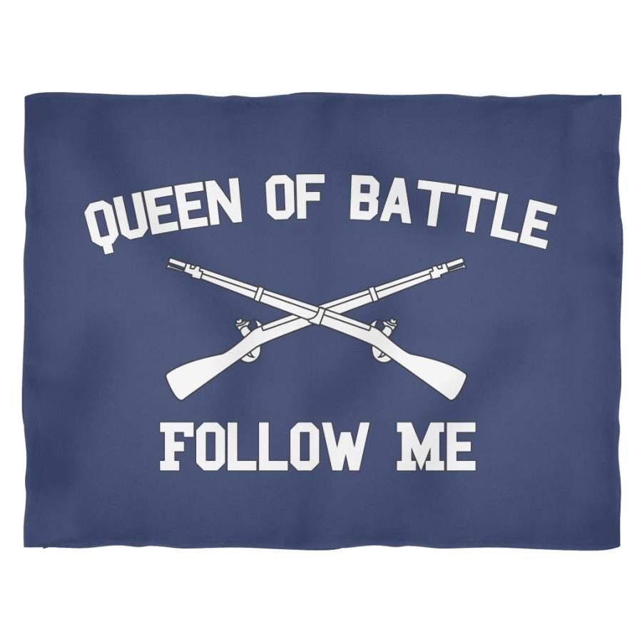 Infantry Queen of Battle Fleece Blanket