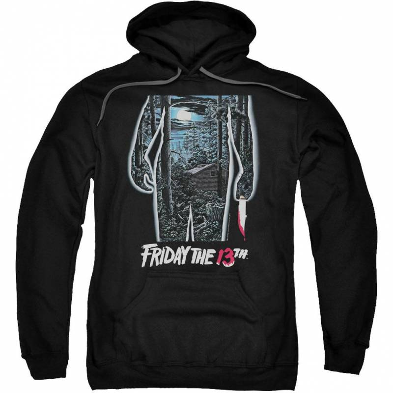 13th Poster Adult 25% Poly Hooded Sweatshirt
