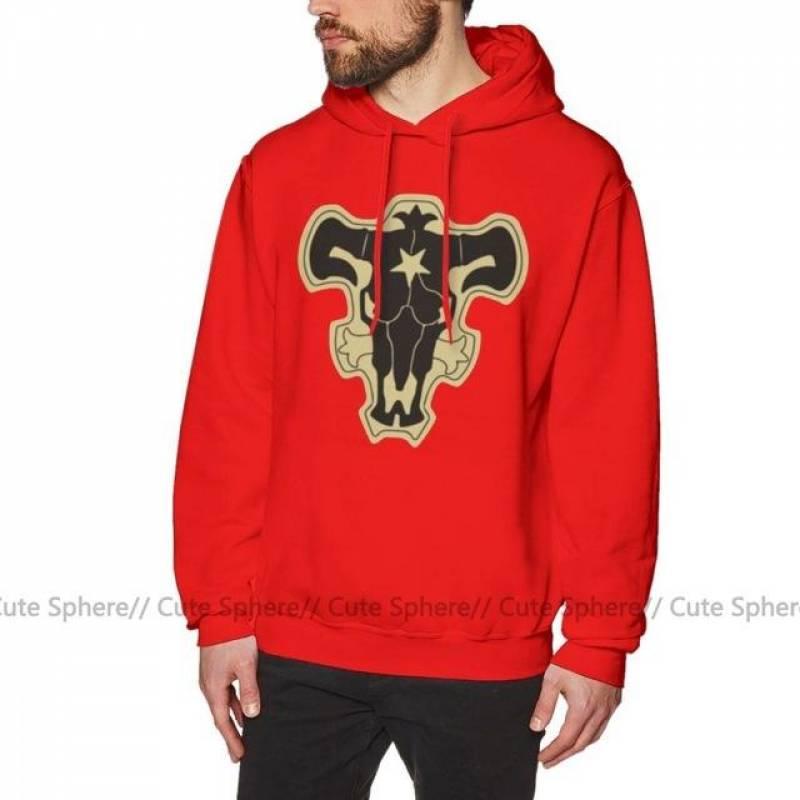 Black Clover Black Bulls Cotton Pullover Hoodie