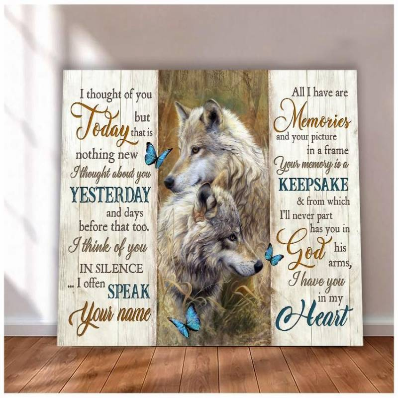 I thought of you today Wolf poster poster  3032203024