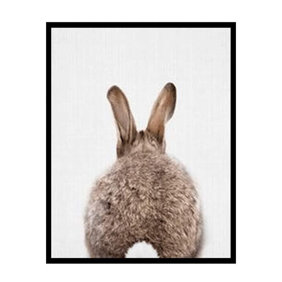 Bunny Behind Natural Poster