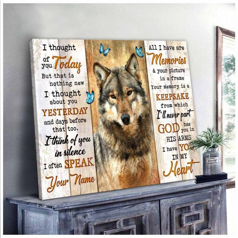 Wolf i thought of you wall art decor poster poster 2232202110