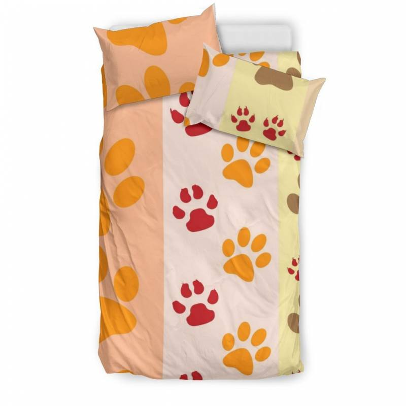 Paws and Stripes Duvet and Pillow Cover Bedding Set – Muggalicious