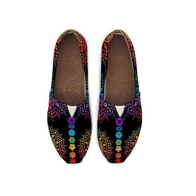 7 Chakra Mandala Casual Shoes