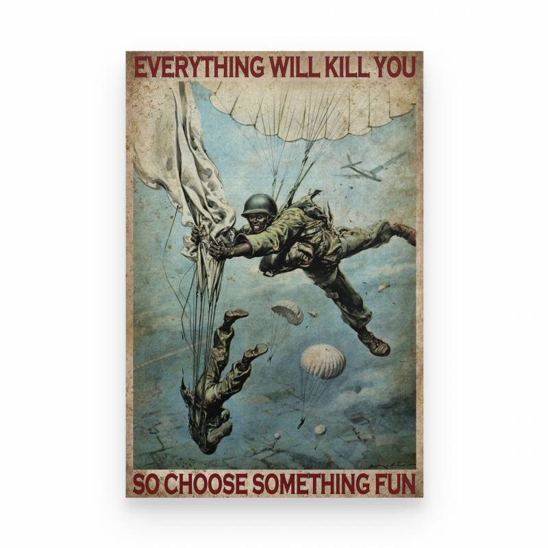Air Force Air Force Soldier Choose Something Fun - Poster