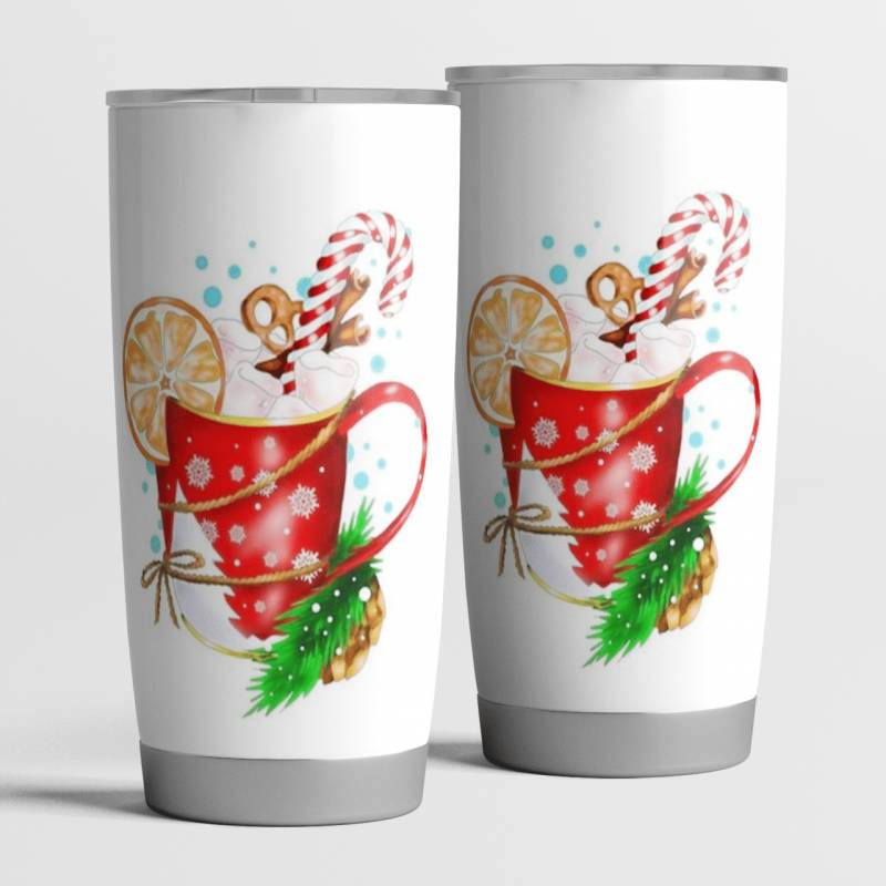 Christmas Chocolate Mug Xmas Tumbler 20oz