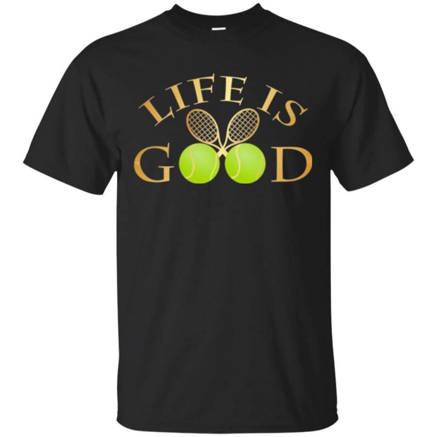 Tennis Lovers T-shirt Life Is Good