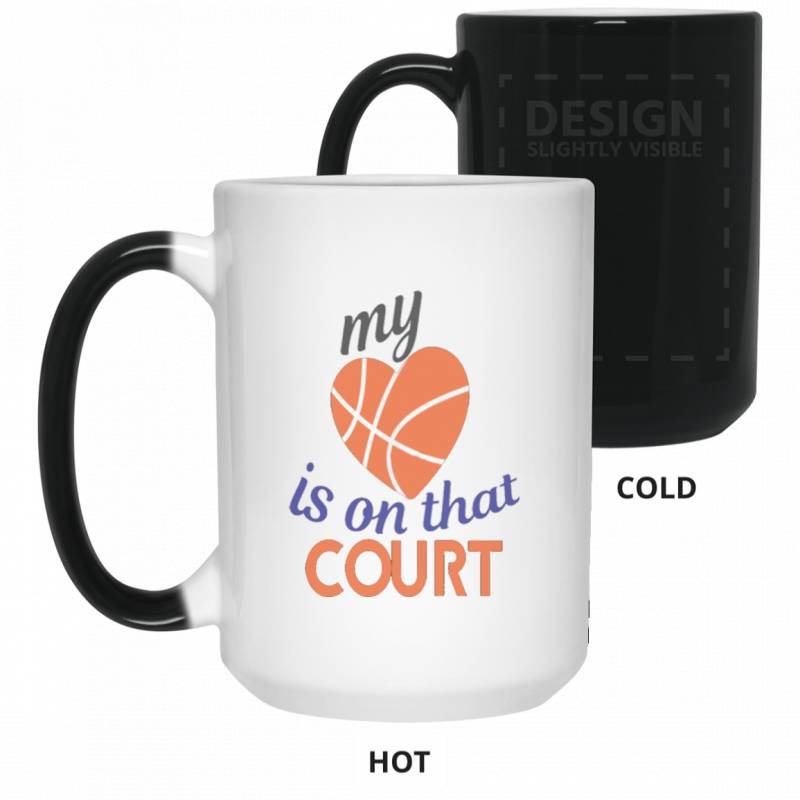 Basketball Mom Dad T Shirt Mothers Day G Color Changing Mug 15oz