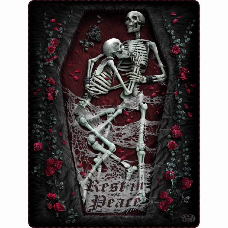REST IN PEACE - Fleece Blanket with Double Sided Print