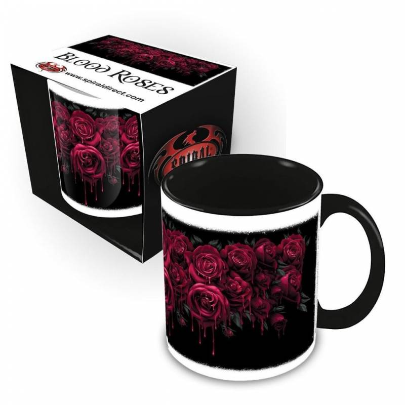 Spiral Blood Rose - Ceramic Mug 0.3L - Gift Boxed A7