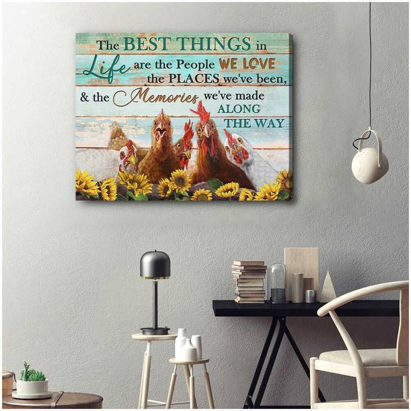 Farm Farmhouse Chicken The best things in life Poster Canvas 5332203066