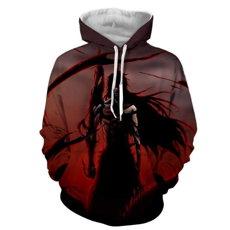 Bleach Ichigo Mugetsu Tensho 3D All-over Printed Unisex Hoodies