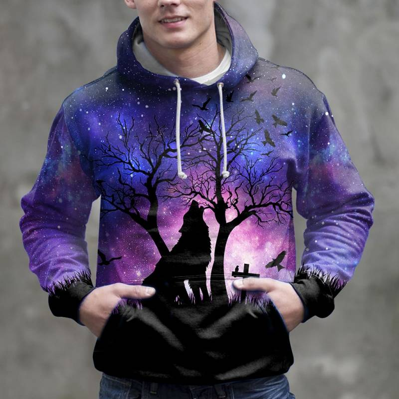 Wolf Night H14908 - All Over Print Unisex Hoodie
