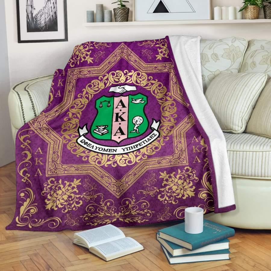 Alpha Kappa Alpha Fleece Blanket