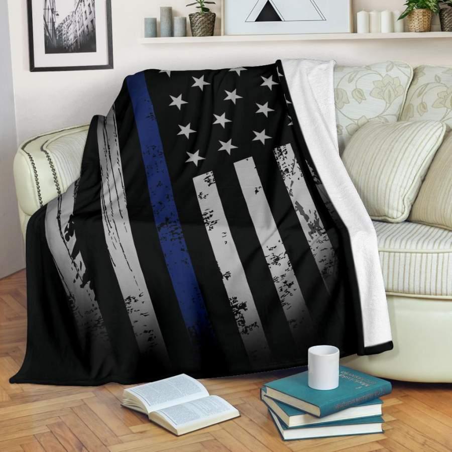 Distressed American Flag Blanket