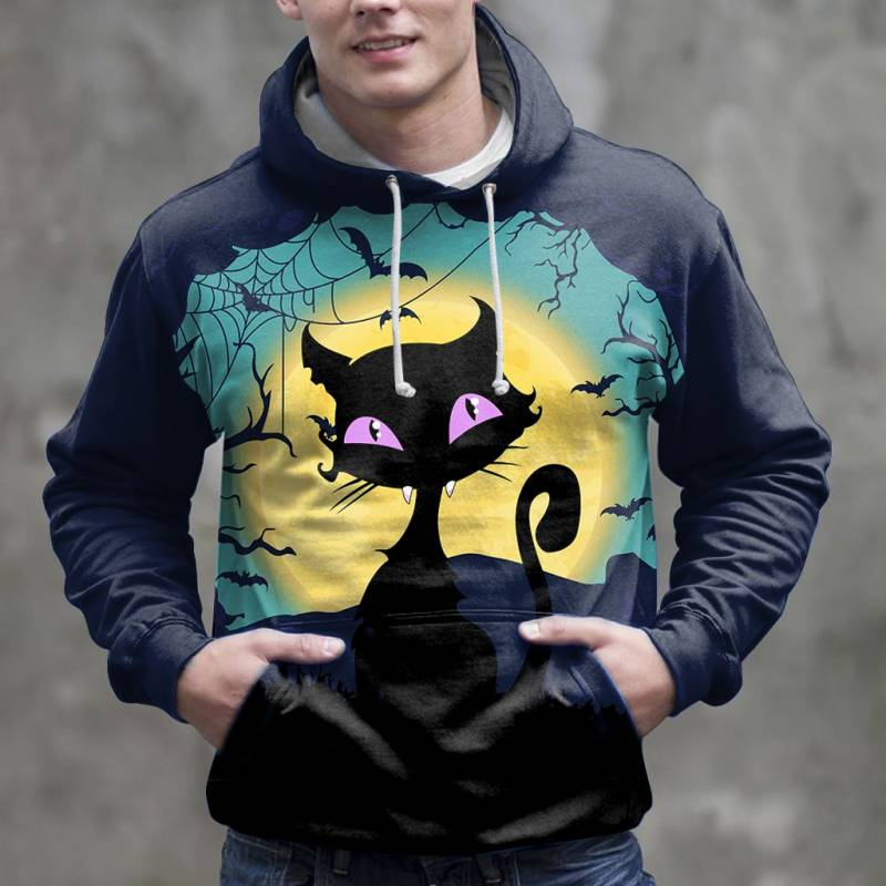 Amazing Black Cat H14907 - All Over Print Unisex Hoodie