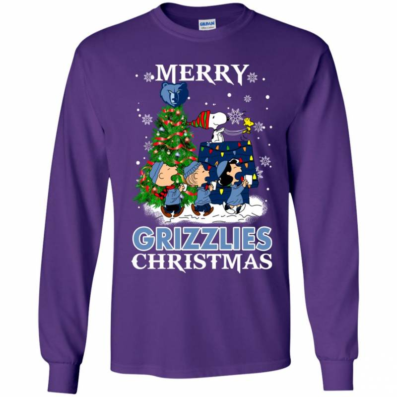 Merry Memphis Grizzlies Christmas Snoopy Ugly Sweater Style Shirts
