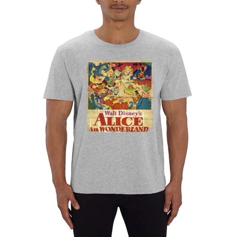 Alice In Wonderland Vintage Poster Men's T-Shirt