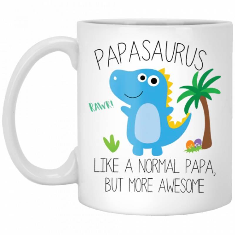 Papasaurus like a normal Papa but more awesome mug