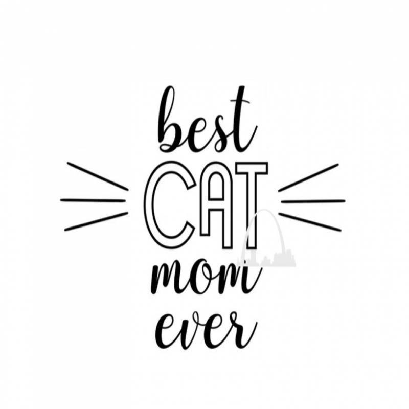 Best Cat Mom Ever svg cut file, crazy cat lady kitten svg for t-shirts decals coffee mugs decasl diy, funny cat lover svg Silhouette cricut