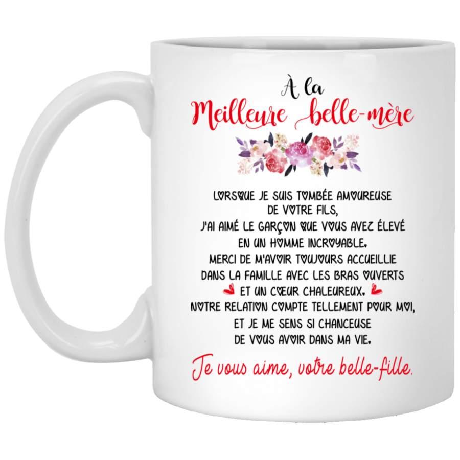 À la meilleure belle-mère mother in law mug