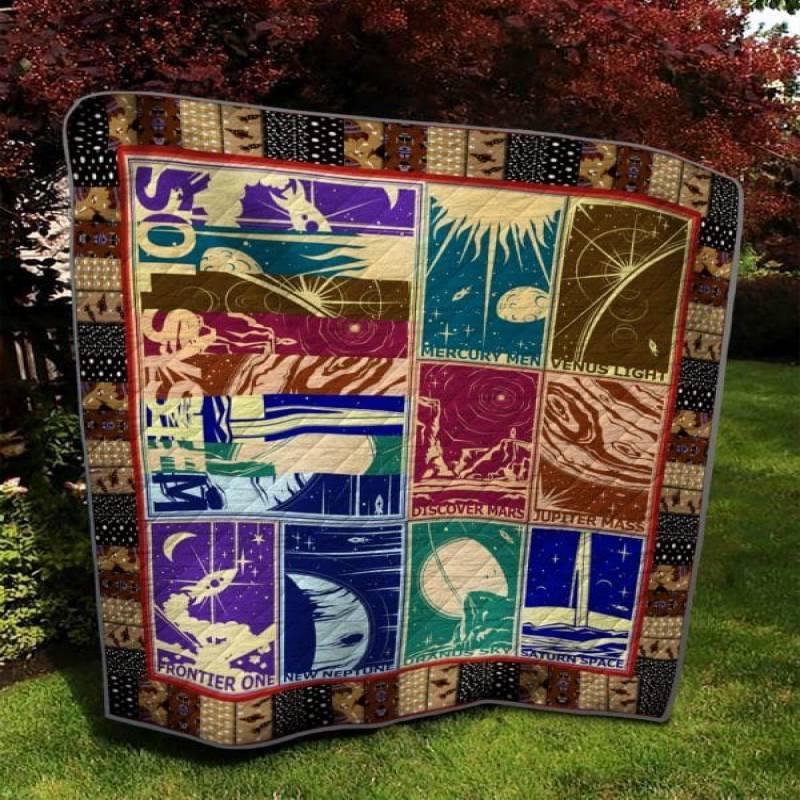 Solar System Bs0304 10 Quilt Blanket