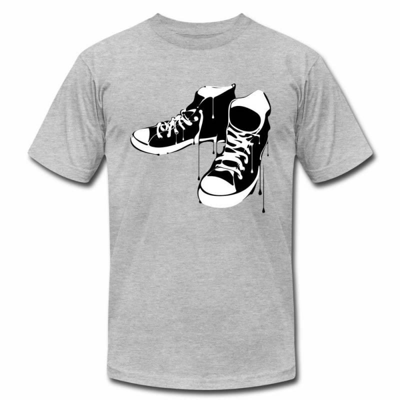 Black & White Chucks Shoes Sneakers Hip Hop T-Shirt, Unisex T-Shirt, Mens, Womens, Short Sleeve Shirt, Graphic Tee, Street Wear