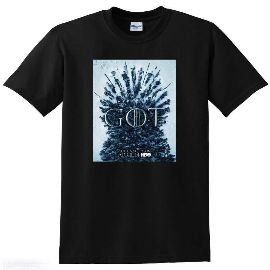 *NEW* GAME OF THRONES T SHIRT Final Season Poster Tee