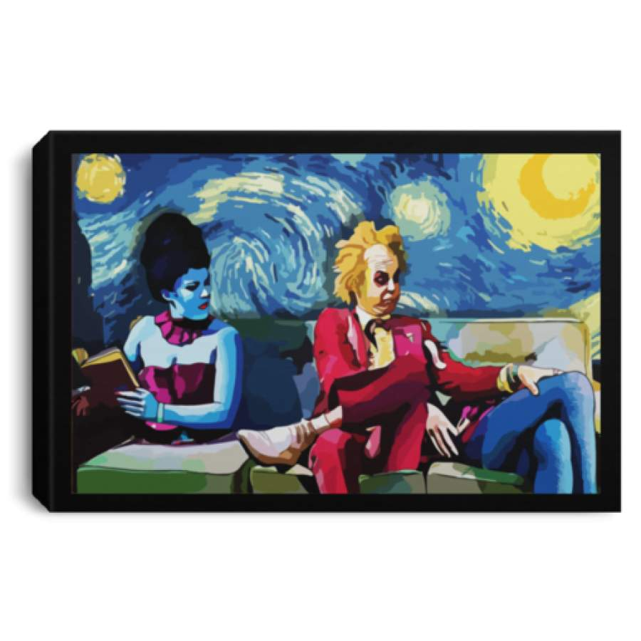 Starry Night Beetlejuice Lydia poster, canvas
