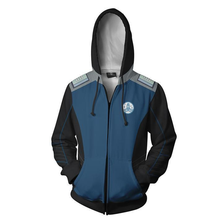 2019 The Orville Zip Up Hoodie Long Sleeve Sweatshirt