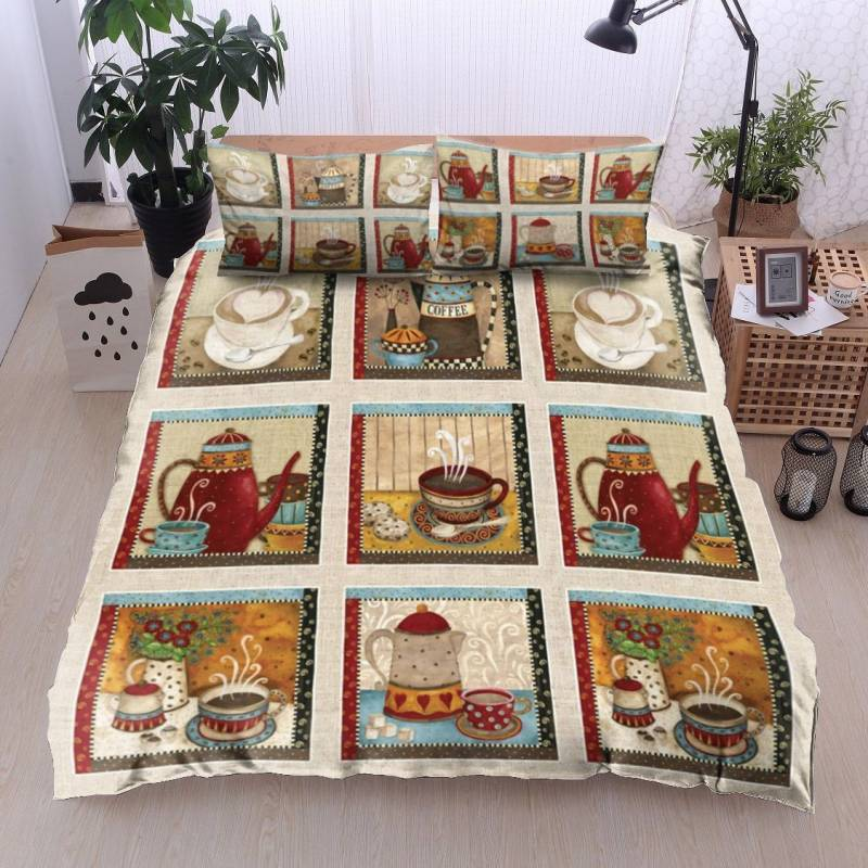 Coffee Mugs And Bottle HN11100061B Bedding Sets