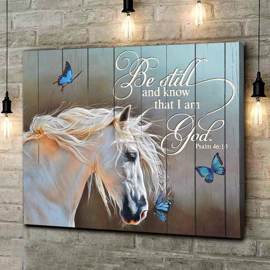 Be still and know that i am god poster canvas - Gift for christian Gsge