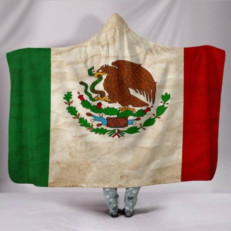 Custom Hoodie Blanket – Mexican Flag