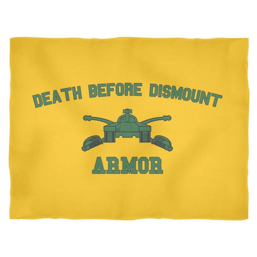 Armor Death Before Dismount Fleece Blanket