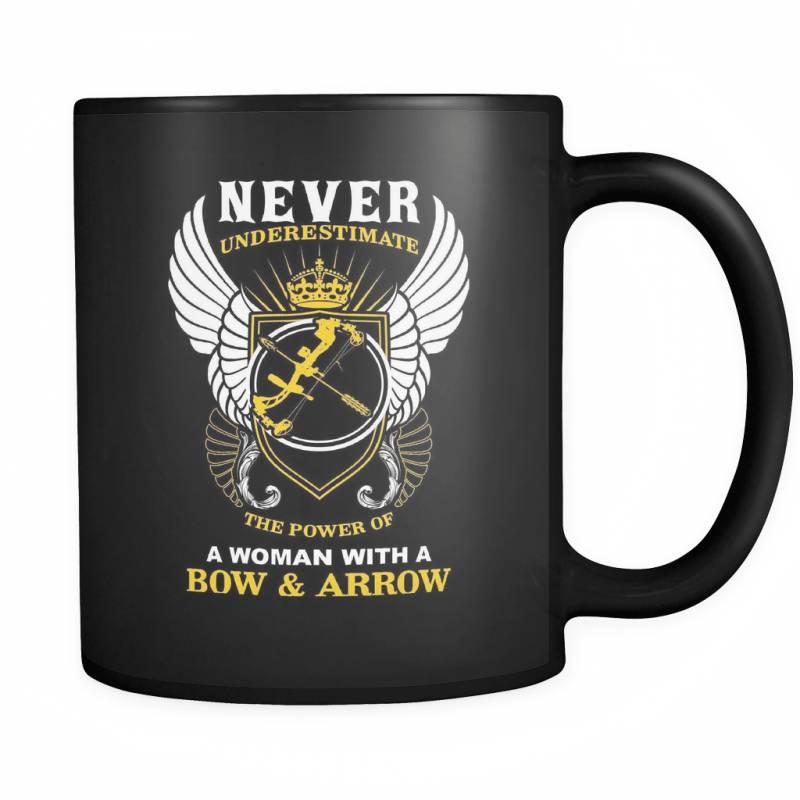 A Woman With A Bow And Arrow - Luxury Archery Mug