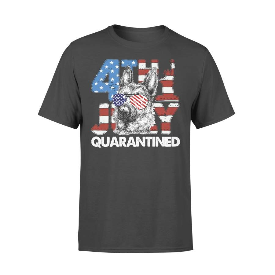 German Shepherd 4Th Of July Merica Quarantined Gifts Funny T-shirt