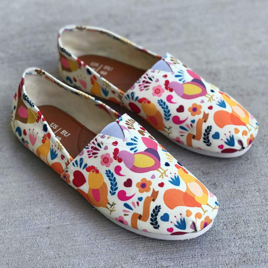 Adorable Chicken Casual Shoes-Clearance PP