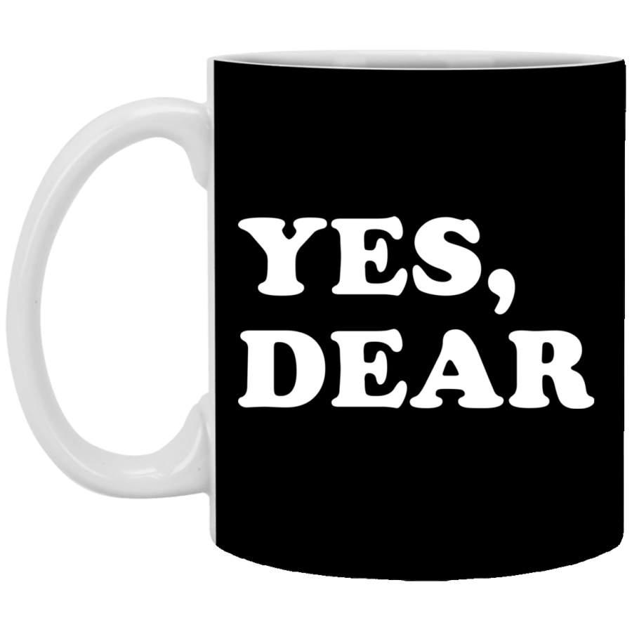 Yes Dear Coffee Mug Whipped Husband Wife Marriage, Wedding Anniversary Gift