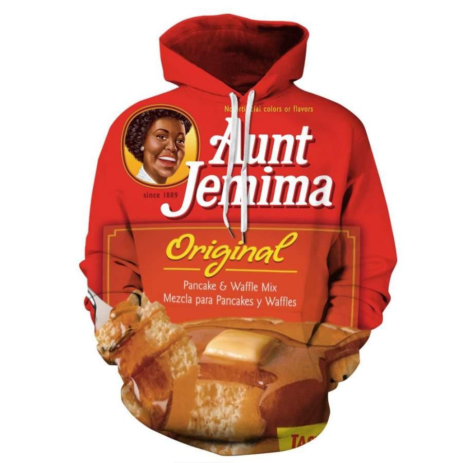 Aunt Jemima Original 3D Hoodie Men's Women's Sweatshirt