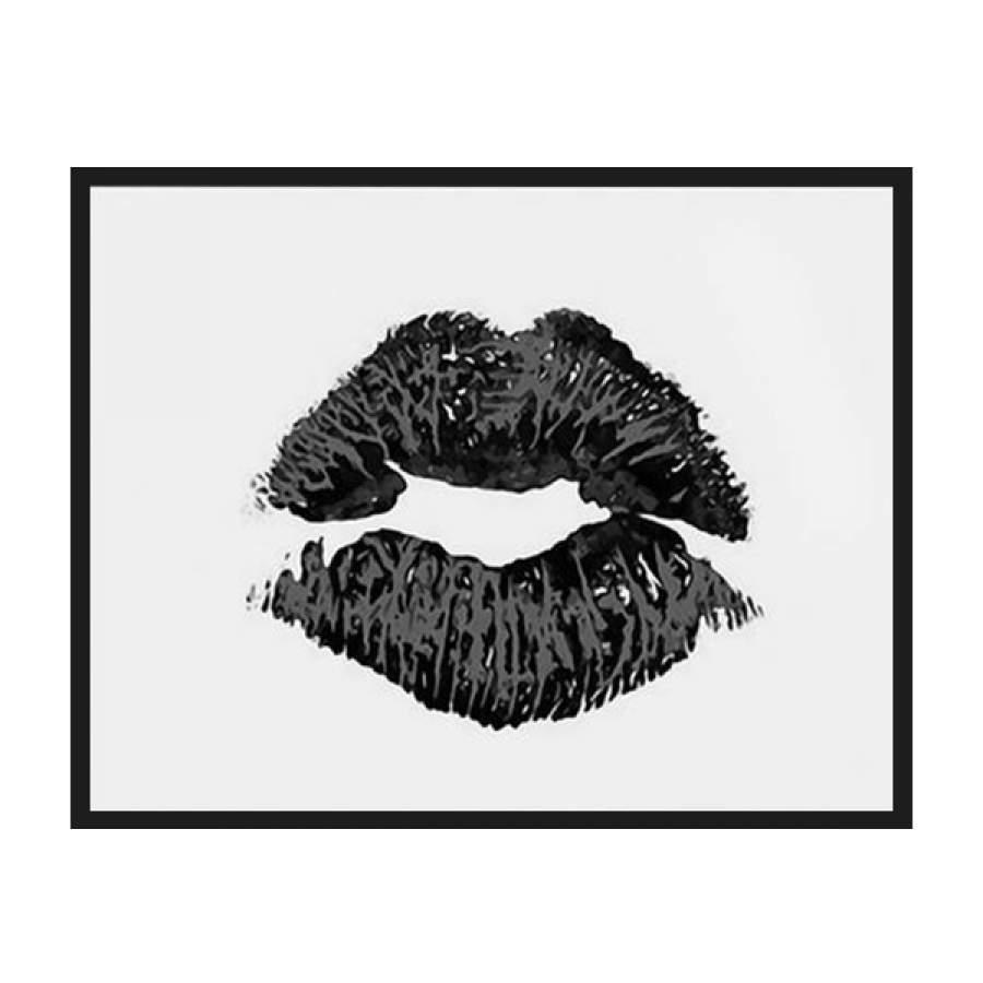 Black Lip Landscape Poster